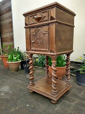 Marble topped French bedside cabinet