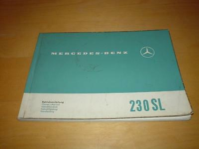 MERCEDES W113 230SL 230 SL PAGODA Owners Service Manual Handbook Book   ORIGINAL