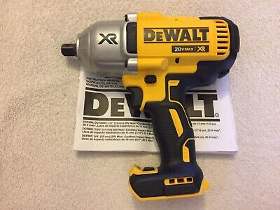 """New Dewalt DCF899B 1/2"""" 20V Max XR Brushless Impact Wrench With Detent Pin Anvil"""