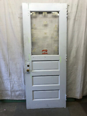 Single Tall Door Interior Plexi Glass Architectural Salvage Old School 36x90