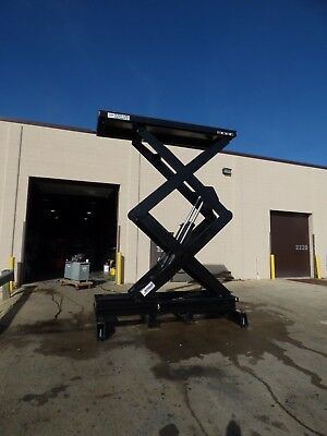 "2 Autoquip 15,000 LB 15 Foot High Scissor Lifts 130""x42"" Unused WOW"
