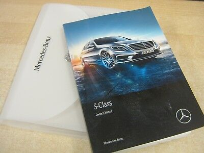 GENUINE MERCEDES S CLASS 222 OWNERS MANUAL HANDBOOK 2013-2018 PACK G-895