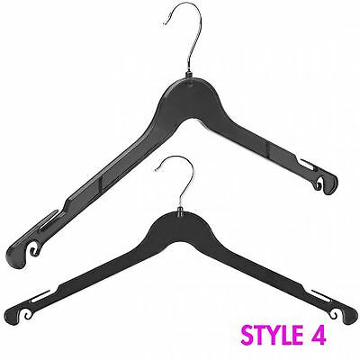 42Cm Plastic Black Coated Hangers For T-Shirts Jacket Top Garments Dresses Skirt