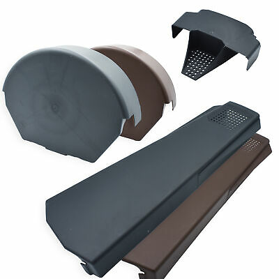 Easy Trim Universal Dry Verge System for Gable / Apex Roof Tile Plastic End Cap
