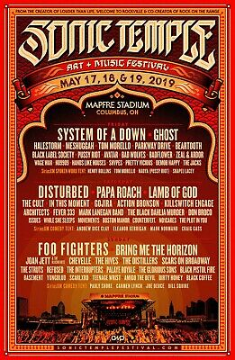 Sonic Temple Music Festival (4) weekend Field GA tickets and RV camping pass