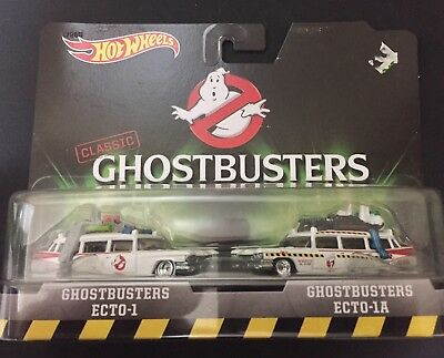 ECTO-2 Bike in 1:50 Ghostbusters Set Hot Wheels DRW73 ECTO-1 Cadillac in 1:64