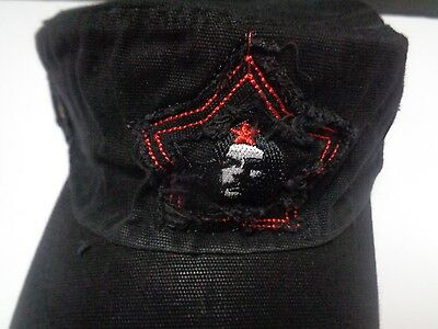 b4c423e08c36a Che Guevara Red Star Distressed Hat Black NWT Adult Size Revolution