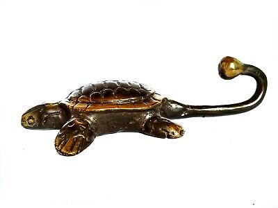 Turtle Wall Hanger Towel Hanging Hook Cast Brass Bronze Gift Collection 1070