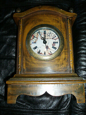 "Wooden carriage clock non working 9.5""x6.5"" - see pics & details"