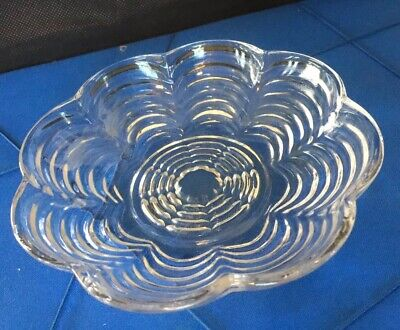 Vintage Clear Glass Scalloped Plate