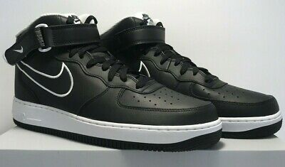 huge selection of 2237c 5b2bc Nike Mens Sz 11.5 Air Force 1 Mid  07 Leather Black White Shoes AQ8650 001