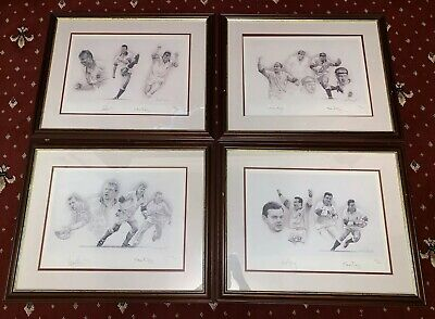 SET World Cup England 1991 Rugby Team Signed Limited Edition 597/600 S.Doig x 4