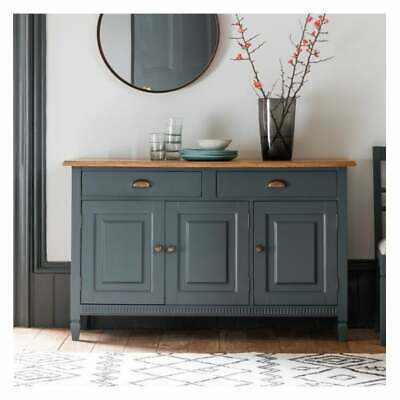 Frank Hudson Gallery Direct Bronte Storm Large Wide 3 Door 2 Drawer Sideboard
