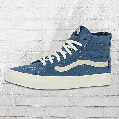VANS DAMEN SCHUHE Sk8 High Slim Zip Scotchgard blau Sneaker Frauen Ladies Women