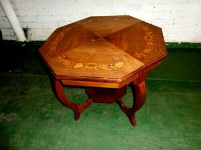 Edwardian Rosewood  Marquetry Window/ Coffee Table