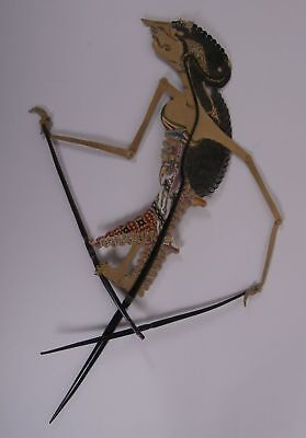 """""Wayang Kulit Figur Schattenspielfigur antique Theater Shadow Puppet Java"