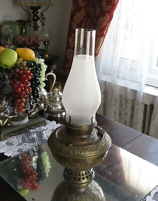 Gorgeous Antique 1800'S Bradley & Hubbard Ornate Brass Oil Lamp