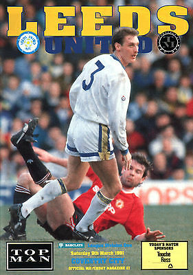 1990/91 Leeds United v Coventry City, Division 1, PERFECT CONDITION