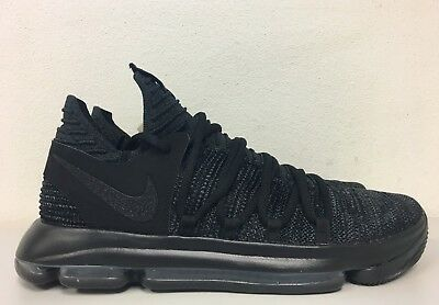 new products ad8fc ae642 Nike Zoom KD10 Black Dark Grey Blackout Triple Black 897815 004 Mens Size  12.5