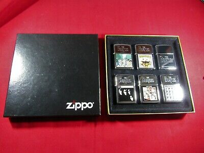 The Beatles Album Series Collector's Edition 6 piece Zippo Lighter Set - Rare
