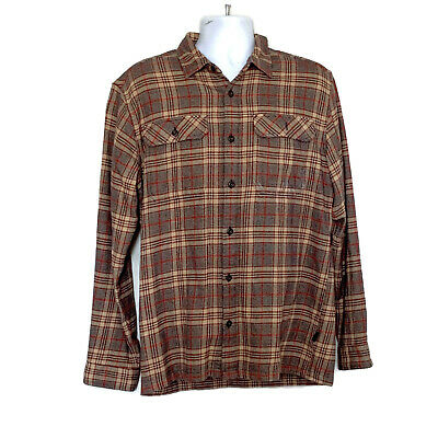 2456a9a16f4 Patagonia Men s Long-Sleeved Fjord Flannel Shirt Organic Cotton M Button  Down