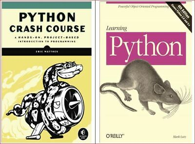 Learning Python (Matthes) + Python Crash Course (Lutz)  Phone/Tab/PC*ONLY