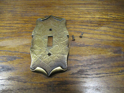 Vtg Amerock Carriage House Colonial Brass Light Switch Cover Antique Gold