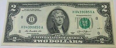2013 $2 TWO DOLLAR BILL ( St Louis * H * ) , UNCIRCULATED, EXCELLENT COLLECTOR