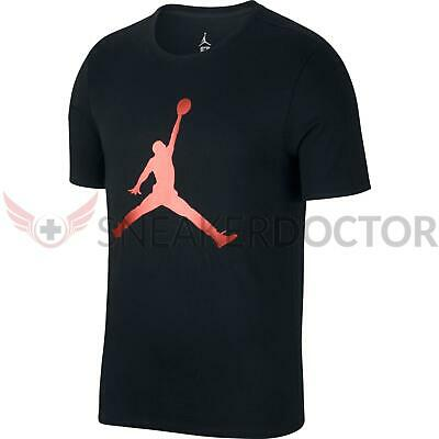 6a1a5630634 New Nike Mens Jordan Sportswear Iconic Jumpman T-Shirt Black/Gym Red All  Sizes