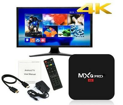 MXQ Pro 4K TV Box Ultra HD 3D 64Bit S905W Android 7.1Quad KD Core Smart WIFI