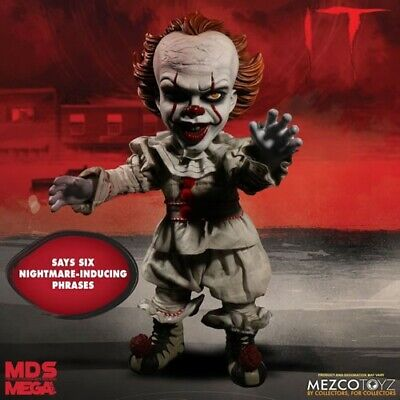 "Mezco Designer IT (2017 Movie) 15"" Mega Scale Talking Pennywise Doll In Stock"