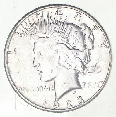 Early - 1923-S - Peace Silver Dollar - 90% US Coin *738