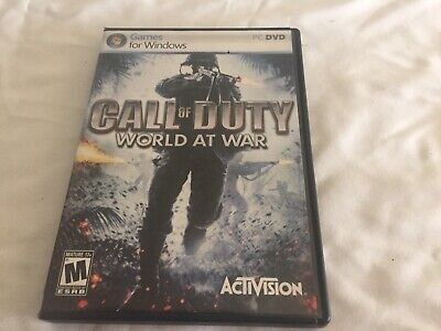 CALL OF DUTY: WORLD AT WAR 2008 Windows PC DVD Video Game ACTIVISION