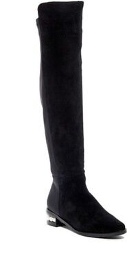 99d3fb508d8 Catherine Malandrino Pasta Suede Over The Knee Boots Faux Pearls Size 8