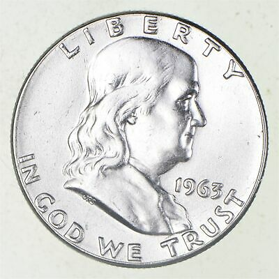 Higher Grade - 1963 - RARE Franklin Half Dollar 90% SIlver Coin *795