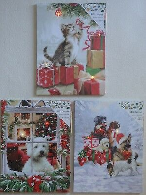 LED Christmas Light-up Canvas Picture (Choice of 3)