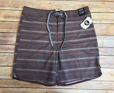 23786905c4 NWT Valor Collective Burgundy Toronto Scallop Swim Trunks Board Shorts 32
