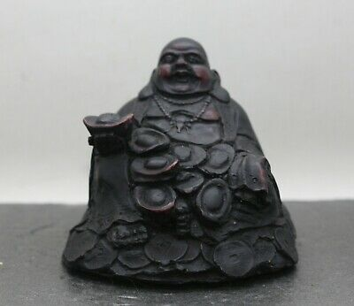 Vintage Chinese Happy Wealth Buddha Feng Shui Object Made Of Composite