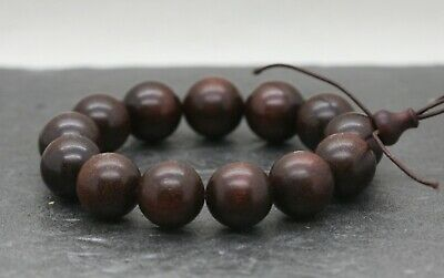 Vintage Chinese Huanghuali Wooden Worry Beads Bracelet