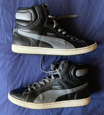 competitive price d79a0 9655d Men s vintage Puma first round high tops black gray size 13