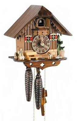 1-Day Black Forest House Cuckoo Clock w Shut-off Lever [ID 93443]