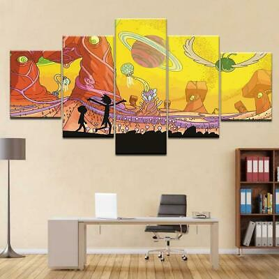 Rick And Morty - Art 1 Canvas Art Print and Poster for Wall Decor inspired by Mo