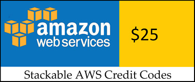 $25 Amazon Web Services (AWS) Credit Code
