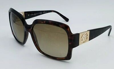 558cf4e36f0d Tory Burch TY9027 Square Gradiant Tortoise Brown 59×16-130 Sunglasses #883