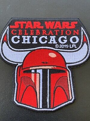 2019 Star Wars Celebration Chicago EXCLUSIVE Boba Fett Bulls Patch