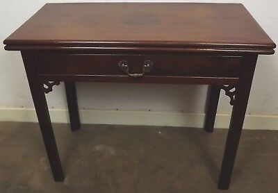 Antique Georgian Mahogany Fold-Over Tea Table Occasional Table