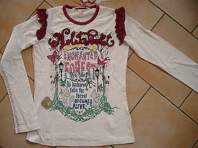 (24) Nolita Pocket Girls Langarm Shirt + Logo Stickerei + Druck & Besatz gr.128