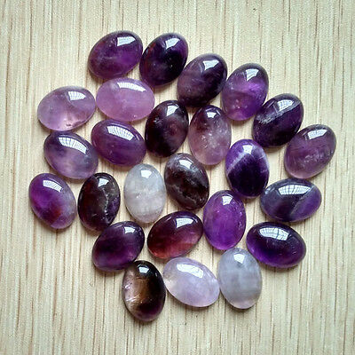 Wholesale 30pcs/lot natural amethyst stone Oval CAB CABOCHON stone beads 13x18mm
