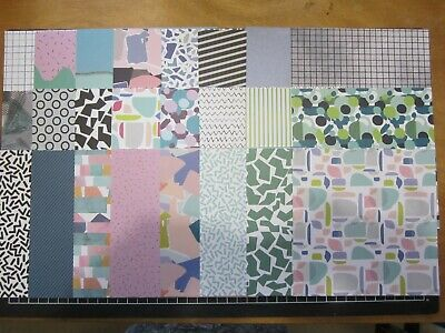 """SCRAPBOOKING PAPERS -15 x15cm -24 sheets - Crafterschoice - """"FLAT ABSTRACT"""""""