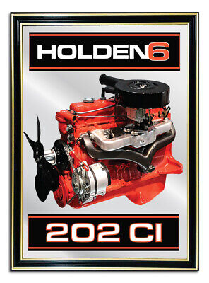 Bar-Mirror-Picture-Sign-Artwork-Suit-Holden-6Cyl-202-Engine-Enthusiast